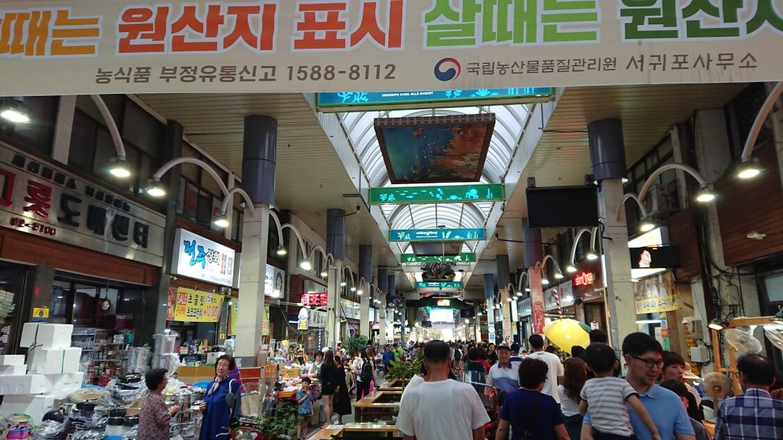 【チェジュ島旅④】近くの市場で買い物