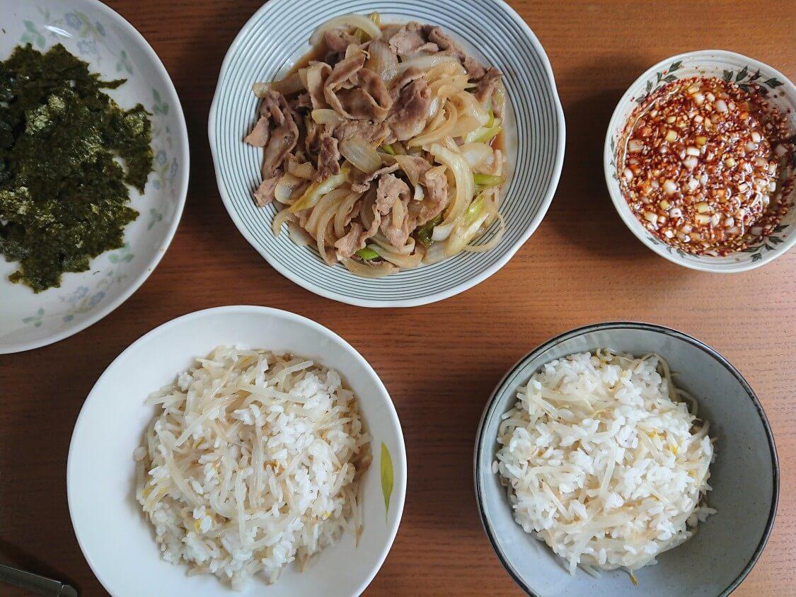 もやしご飯のレシピ。付け合わせにおすすめのおかず&海苔