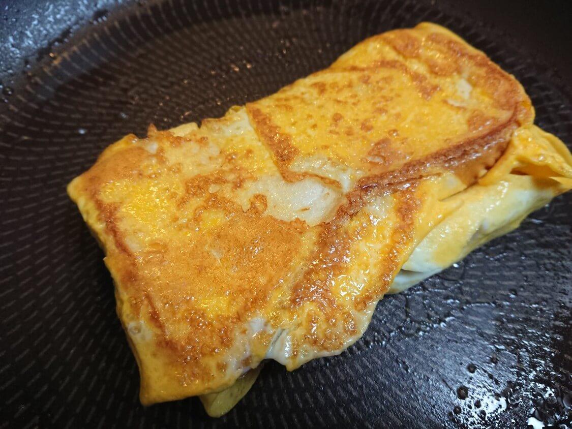 フライパンで!チーズエッグトースト。韓国の人気レシピ(ワンパントースト)チーズなしのアレンジ