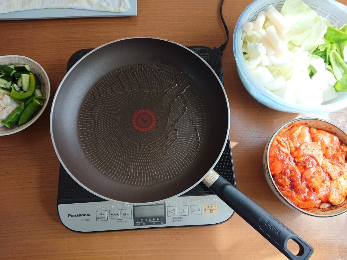 フライパンで簡単!チーズタッカルビの作り方