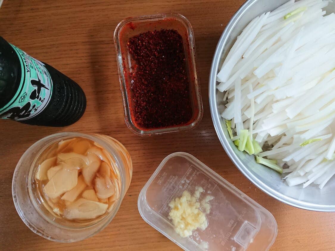 センチェ!大根キムチの作り方。韓国のレシピ+日本のイワシ魚醤よしる