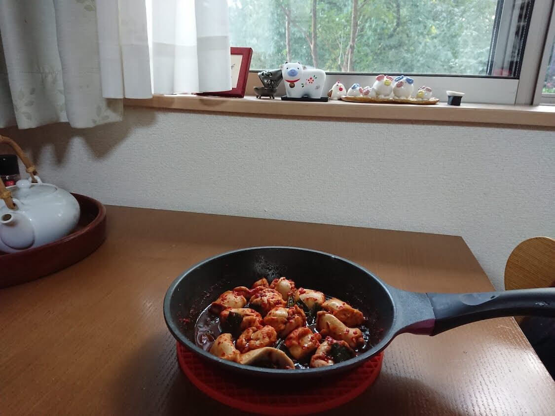 鮭白子の煮付けレシピ。ピリ辛ヤンニョムに濃厚な白子が合う!簡単おつまみ