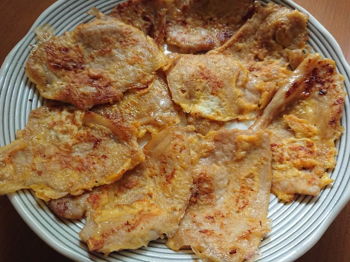 お肉のチヂミ!韓国のユッジョン